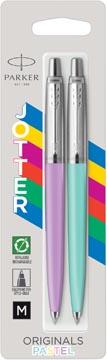Parker Jotter Originals Pastel balpen, blister met 2 stuks, paars/munt