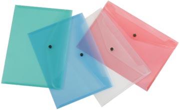 Beautone documentenmap, A4, in geassorteerde transparante kleuren