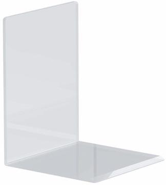Maul boekensteun ft 10 x 10 x 13 cm, transparant