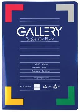 Gallery schrift, ft A4, geruit 5 mm, 72 bladzijden