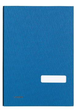 Class'ex handtekenmap, linnen omslag, blauw