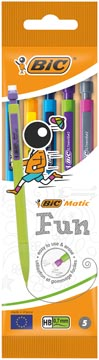 Bic vulpotlood Matic Fun, in geassorteerde kleuren