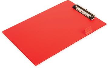 Pergamy klemplaat, voor ft A4, uit PVC, rood