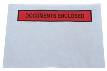 Zelfklevend documentenmapje ft A5, documents enclosed, doos van 1000 stuks