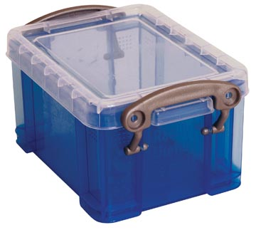 Really Useful Box visitekaarthouder 0,3 liter, transparant blauw